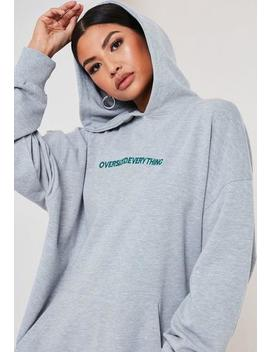 petite-grey-oversized-everything-hoodie by missguided