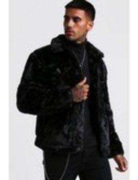 faux-fur-trucker-jacket by boohooman