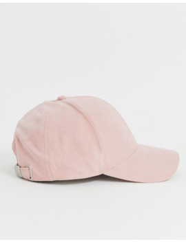 asos-design-peached-baseball-cap-in-pink by asos-design