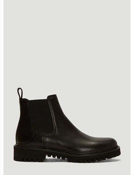Go Logo Beatle Boots In Black by Valentino