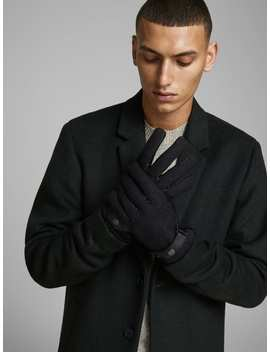 leren-handschoenen by jack-&-jones