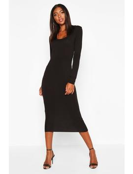 tall-square-neck-bodycon-dress by boohoo