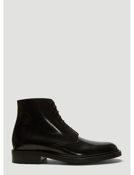 Army 20 Boots In Black by Saint Laurent