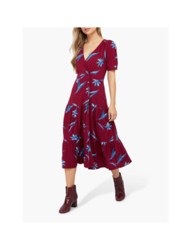 monsoon-billie-printed-tiered-dress,-red by monsoon