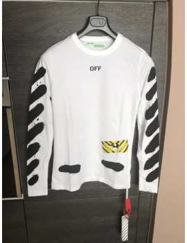 off-white-spray-diag-long-sleeves-tee-shirt-xxs-measurements by off-white  ×
