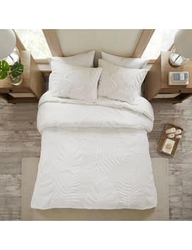 ceiba-tufted-cotton-chenille-duvet-cover-set by no-brand