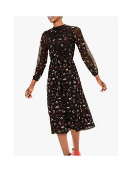 oasis-fauna-floral-midi-dress,-black_multi by oasis