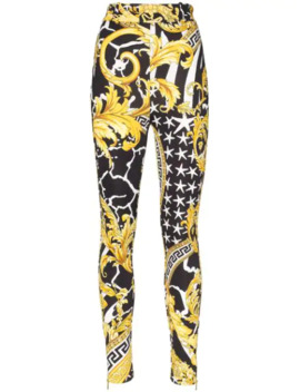 baroque-print-skinny-trousers by versace