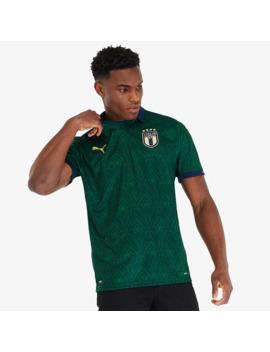 Puma Italy 19/20 Renaissance Shirt   Ponderosa Pine/Peacoat by Pro Direct Soccer