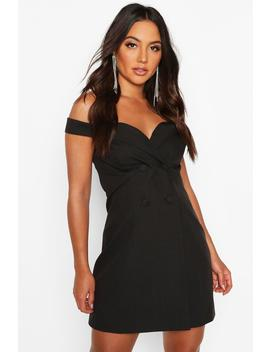 off-the-shoulder-fitted-blazer-dress by boohoo