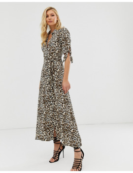 zibi-london-leopard-print-maxi-shirt-dress by asos