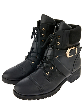 metal-detail-biker-boots by accessorize