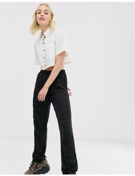 reclaimed-vintage-–-vintageinspirerad-skjorta-med-kontrasterande-knappar-framtill by reclaimed-vintage-inspired