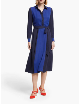 boden-betty-colour-block-midi-shirt-dress,-french-navy_blue by boden