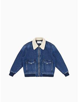 regular-fit-denim-bomber-jacket by calvin-klein
