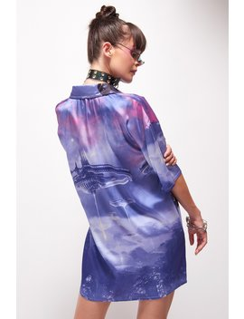 robot-print-oversized-shirt-dress by jaded-london
