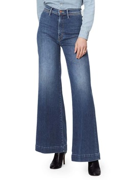 the-swooner-roller-high-waist-wide-leg-jeans by mother