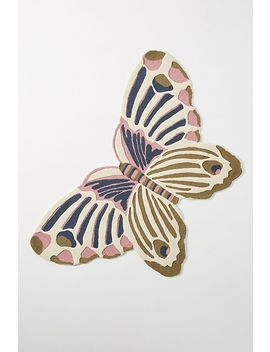 hand-tufted-butterfly-rug by anthropologie