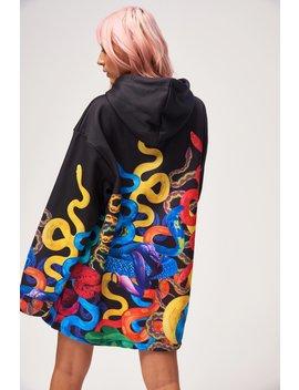 climbing-snake-print-oversized-hoodie by jaded-london
