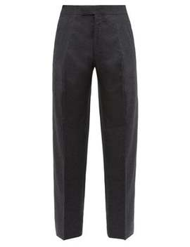 martin-pleated-wool-blend-wide-leg-trousers by the-row