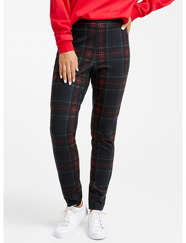 plaid-engineered-jersey-legging by contemporaine
