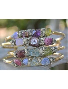 cuff-bracelet,-personalized-birthstone-jewelry-for-mom,-bracelet-with-natural-birthstones,-grandmother-jewelry,-gift-idea-for-mom by etsy