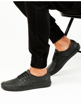 Vans Authentic (Leather) Black/Black by Vans