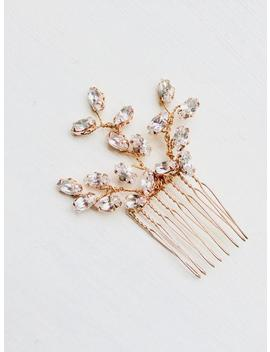 bridal-hair-accessories,-bridal-comb,-wedding-hair-accessories,-wedding-comb,-rose-gold,-crystal,-handmade,-made-in-uk by etsy