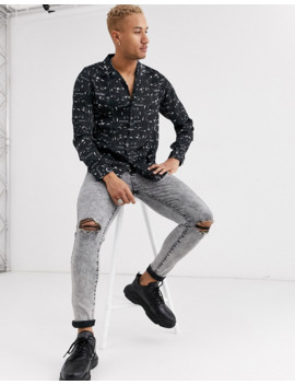 hermano-shirt-with-snake-print-in-black by hermano