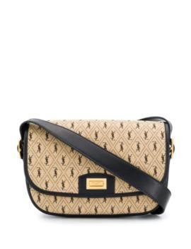 monogram-all-over-canvas-satchel-bag by saint-laurent