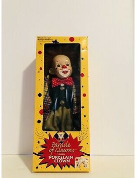 "vintage-retired-porcelain-parade-of-clown-doll-12""-nib-free-fast-shipping by ebay-seller"