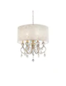 ore-international-aurora-6-light-gold-and-crystal-transitional-clear-glass-drum-chandelier by lowes