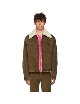 brown-stretch-corduroy-over-jacket by dsquared2