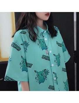 Pikachu Print Shirt by Dog Dog