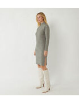 Wide Ribbed Mini Jumper Dress by Warehouse
