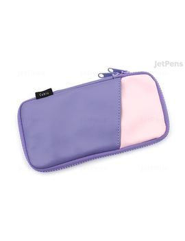 cubix-round-zip-pen-case---synthetic-leather---purple_pink by cubix