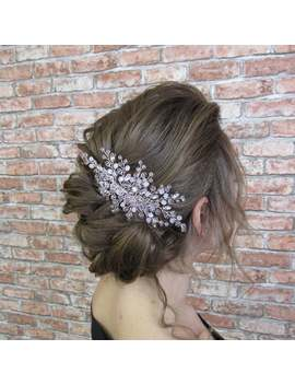 romantic-crystal-rose-hair-comb by etsy
