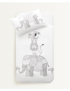 animal-print-duvet-cover--duvet-covers---bed-linen---bedroom---kids by zara-home
