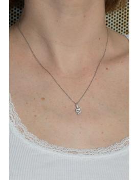 silver-rhinestone-snake-charm-necklace by brandy-melville-