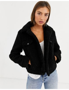 mango-teddy-trucker-jacket-in-black by mango