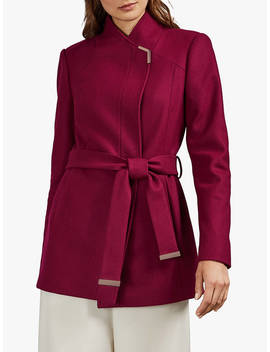 ted-baker-drytaa-wool-short-belted-wrap-coat,-black by ted-baker