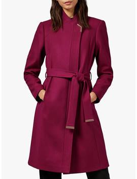 ted-baker-ellgenc-wool-blend-coat,-pink-dark,-pink-dark by ted-baker