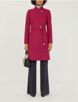 metallic-trim-wool-blend-coat by ted-baker