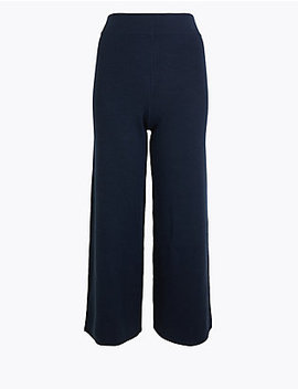 wool-blend-wide-leg-culottes by standard-tracked-delivery