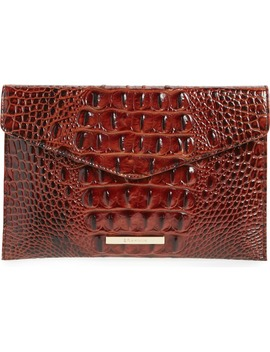 melbourne-croc-embossed-leather-envelope-clutch by brahmin