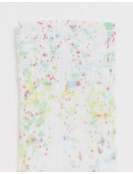 asos-design-paint-flick-effect-sport-sock by asos-design