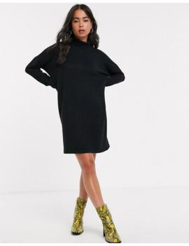 noisy-may-roll-neck-mini-knitted-sweater-dress by noisy-may