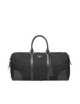 Reisetasche Aus Nylon Und Saffiano Leder by Prada
