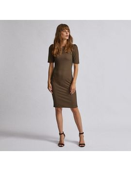 multi-coloured-geometric-print-jacquard-bodycon-dress by dorothy-perkins