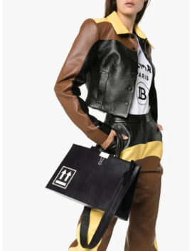 Black Box Medium Leather Tote Bag by Off White